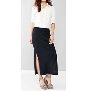 Gap Pure Body Slit Maxi Skirt Black XS